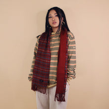 DAKS CHECK SCARF-BASEMENT SIX