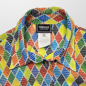 VERSACE JACQUARD PRINT SHIRT TOP-BASEMENT SIX