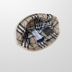BURBERRY NOVA CHECK QUILTED BUCKET HAT-BASEMENT SIX