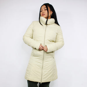 BURBERRY LONG QUILTED BEIGE COAT JACKET-BASEMENT SIX