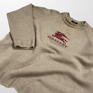 BURBERRY KNITTED BIG LOGO SWEATSHIRT JUMPER-BASEMENT SIX