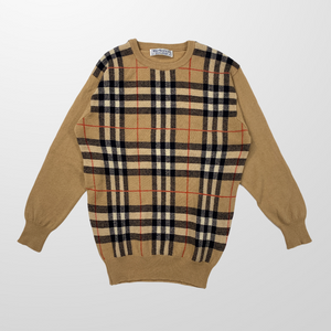 BURBERRY KNITTED NOVA WOOL SWEATER JUMPER-BASEMENT SIX