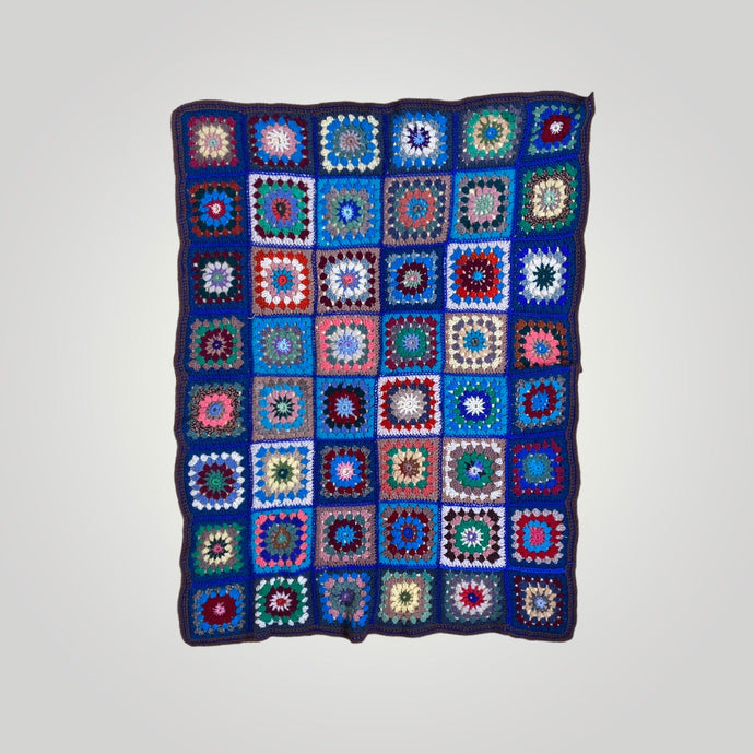 VINTAGE CROCHET BLANKET THROW-BASEMENT SIX