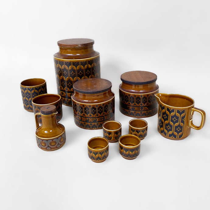 VINTAGE 1970s HORNSEA HEIRLOOM CERAMIC FULL SET-BASEMENT SIX
