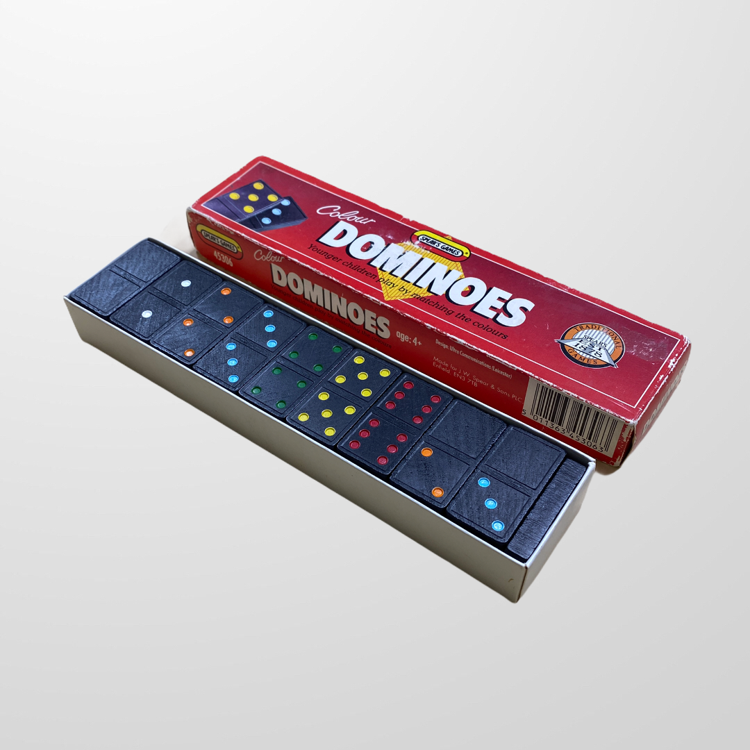 TRADITIONAL DOMINOES VINTAGE SPEARS GAMES-BASEMENT SIX
