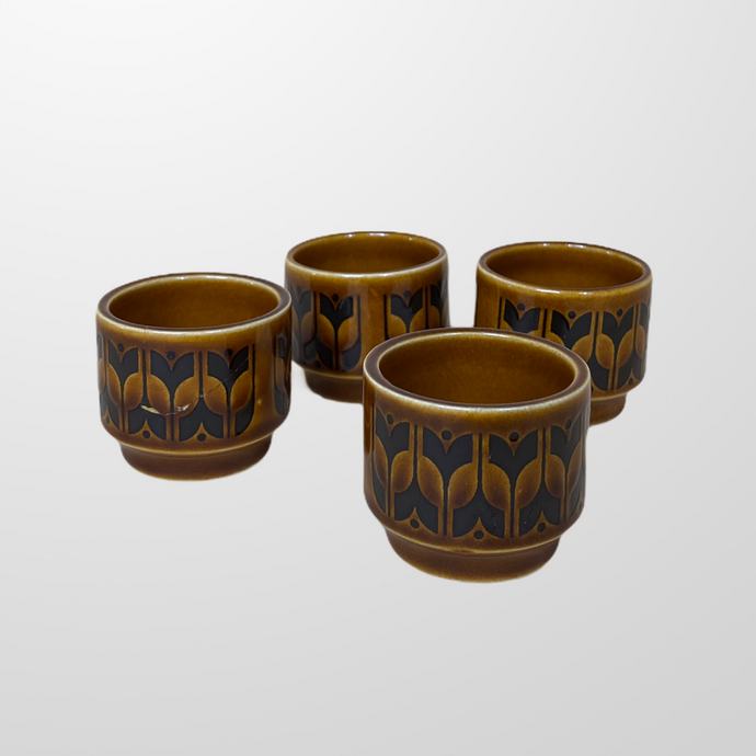 VINTAGE 1970s HORNSEA HEIRLOOM CERAMIC EGG CUPS-BASEMENT SIX