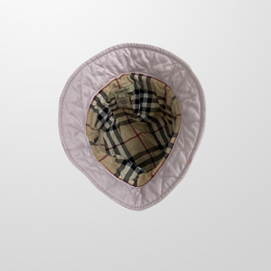 BURBERRY NOVA CHECK PINK QUILTED BUCKET HAT-BASEMENT SIX