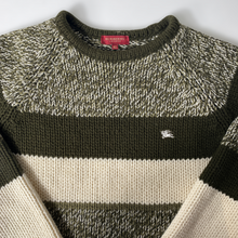 BURBERRY KNITTED STRIPED SWEATSHIRT JUMPER-BASEMENT SIX