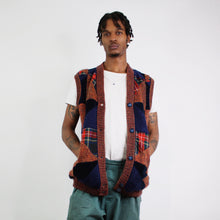 PATCHWORK 3D PATTERN KNITTED JUMPER VEST-BASEMENT SIX