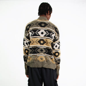 COOGI STYLE 3D PATTERN KNITTED JUMPER SWEATER-BASEMENT SIX