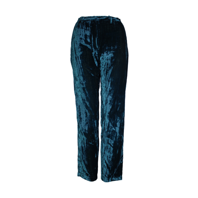 Dolce & Gabbana D&G Velvet High-Waisted Trousers-BASEMENT SIX