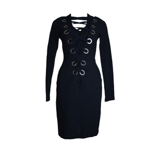 Givenchy Lace-Up Dress-BASEMENT SIX