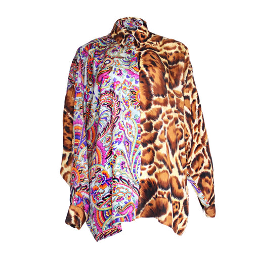 Versace Jeans Paisley and Leopard Printed Shirt-BASEMENT SIX