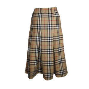 Burberry Nova Check Pleated Skirt-BASEMENT SIX