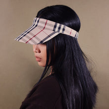 BURBERRY NOVA CHECK VISOR HAT CAP-BASEMENT SIX