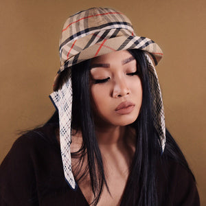 BURBERRY NOVA CHECK BUCKET HAT-BASEMENT SIX