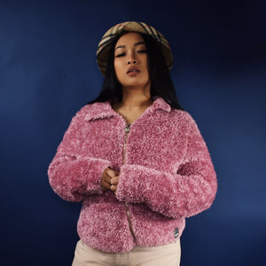 VERSACE JEANS COUTURE 90s FLUFFY JACKET-BASEMENT SIX