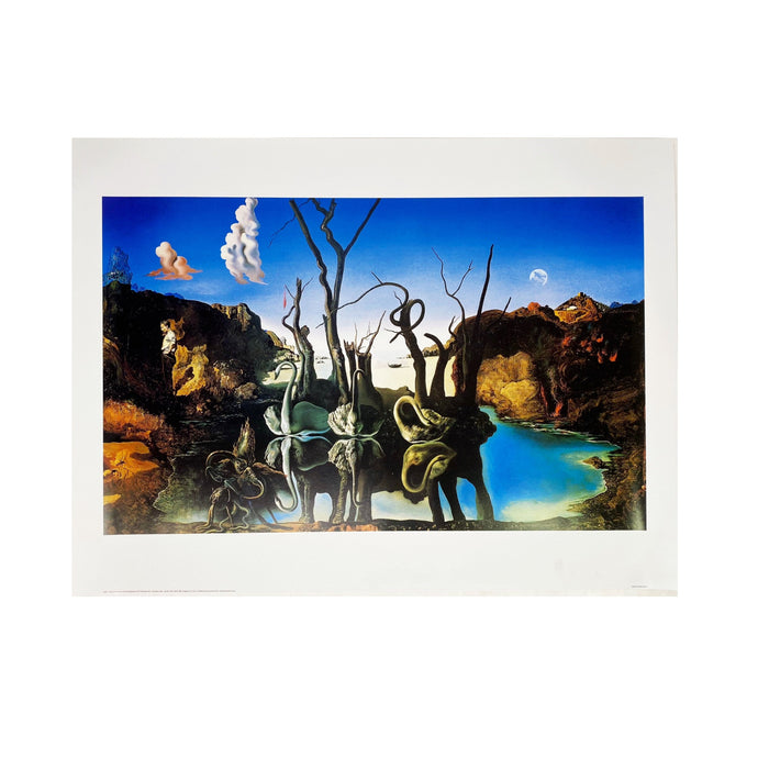 SALVADOR DALI - REFLECTING ELEPHANTS FINE ART PRINT-BASEMENT SIX