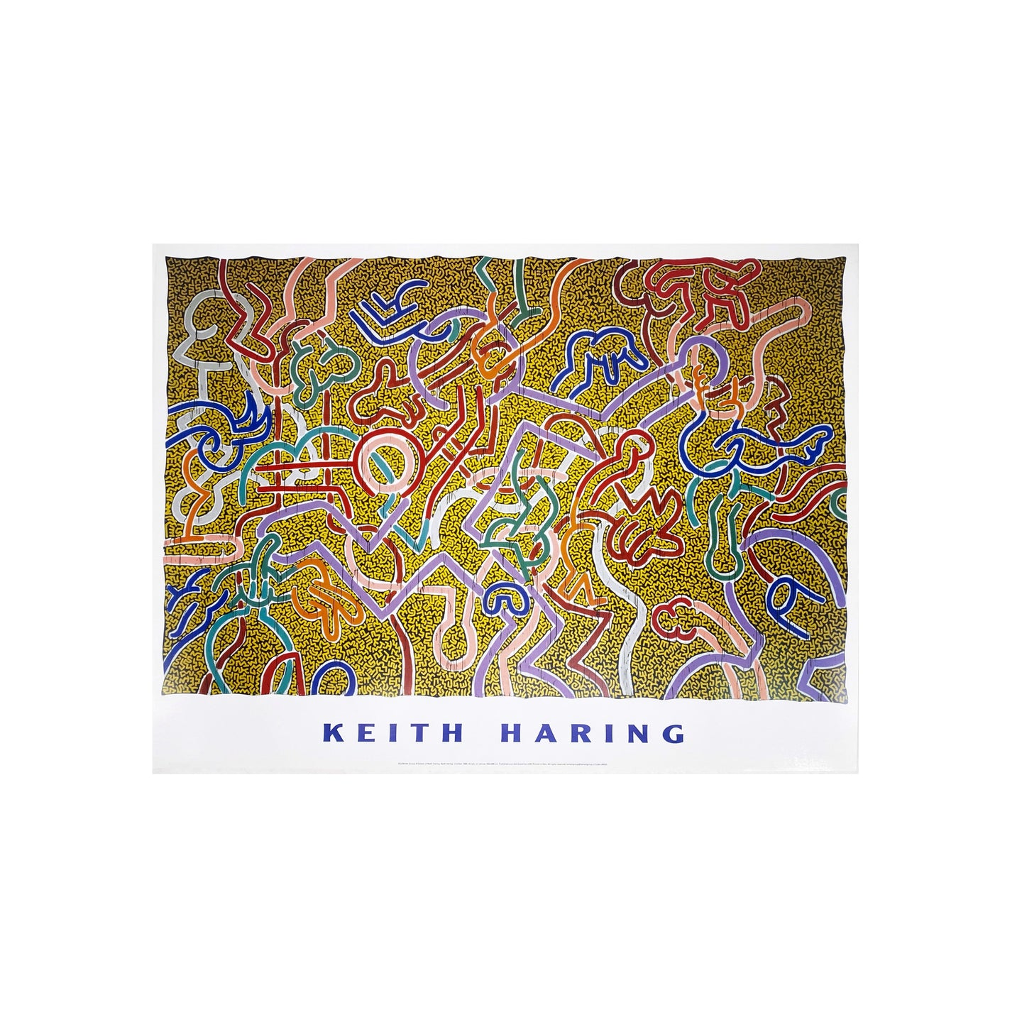 KEITH HARING - UNTITLED 1985 FINE ART PRINT-BASEMENT SIX