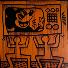 KEITH HARING PRINT-BASEMENT SIX
