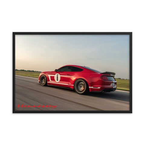"Hennessey Heritage Edition Vehicle Framed Poster 36"" x 24"""