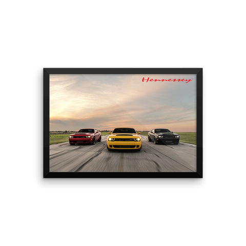 "Hennessey Performance Vehicles Framed Poster 18"" x 12"""