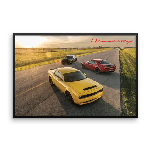 "Hennessey Performance Vehicles Framed Poster 36"" x 24"""