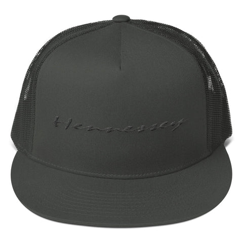 Hennessey All-Black Mesh Back Snapback