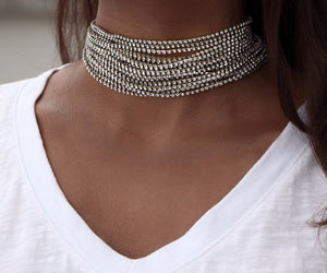 """Crystals"" Party Chokers"