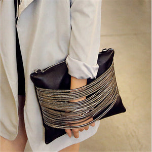 """Chains Envelope Clutch"""