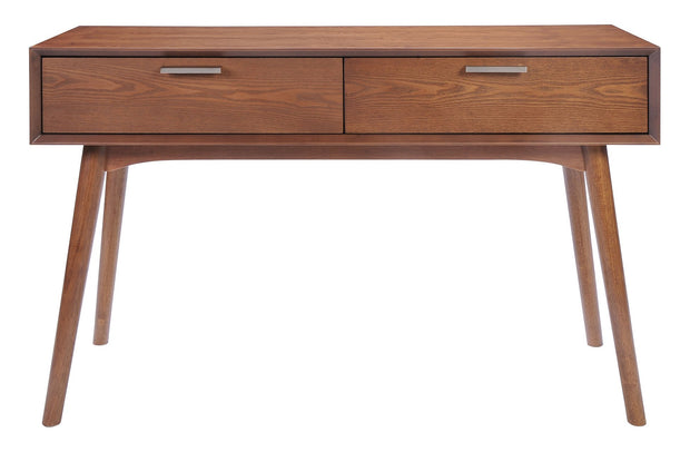 Design District Console Table Walnut is From the Indoor Collection designed in Rubberwood and Wood Veneer, MDF. Design District Collection part of the Coffee, Side, Consoles,Coffee, Side, Consoles set.