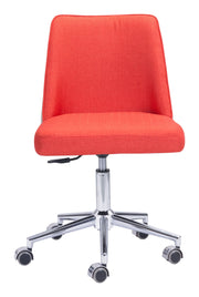 Season Office Chair Orange/Beige is From the Indoor Collection designed in Chromed Steel and Polyblend, Leatherette. Season Collection part of the Chairs set.