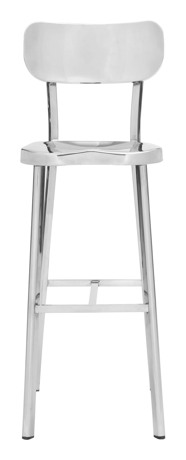 Winter Bar Chair Stainless Steel is From the Indoor Collection designed in Polished Stainless Steel . Winter Collection part of the Chairs, Stools set.