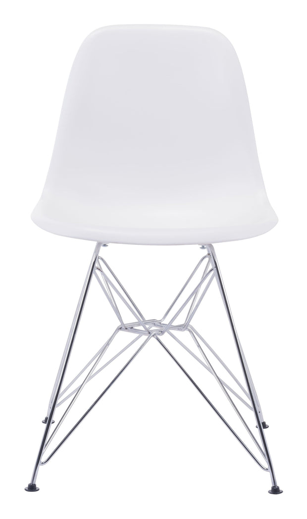 Zip Dining Chair White is From the Indoor Collection designed in Chromed Steel and Polypropylene. Zip Collection part of the Chairs, Stools set.