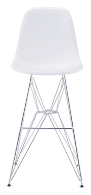 Zip Bar Chair White is From the Indoor Collection designed in Chromed Steel and Polypropylene. Zip Collection part of the Chairs, Stools set.