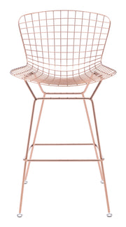 Wire Bar Chair Rose Gold is From the Indoor Collection designed in Chromed Steel . Wire Collection part of the Chairs, Stools set.