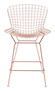 Wire Counter Chair Rose Gold is From the Indoor Collection designed in Chromed Steel . Wire Collection part of the Chairs, Stools set.