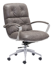 Avenue Office Chair Vintage Gray is From the Indoor Collection designed in Chromed Steel and Leatherette. Avenue Collection part of the Chairs set.