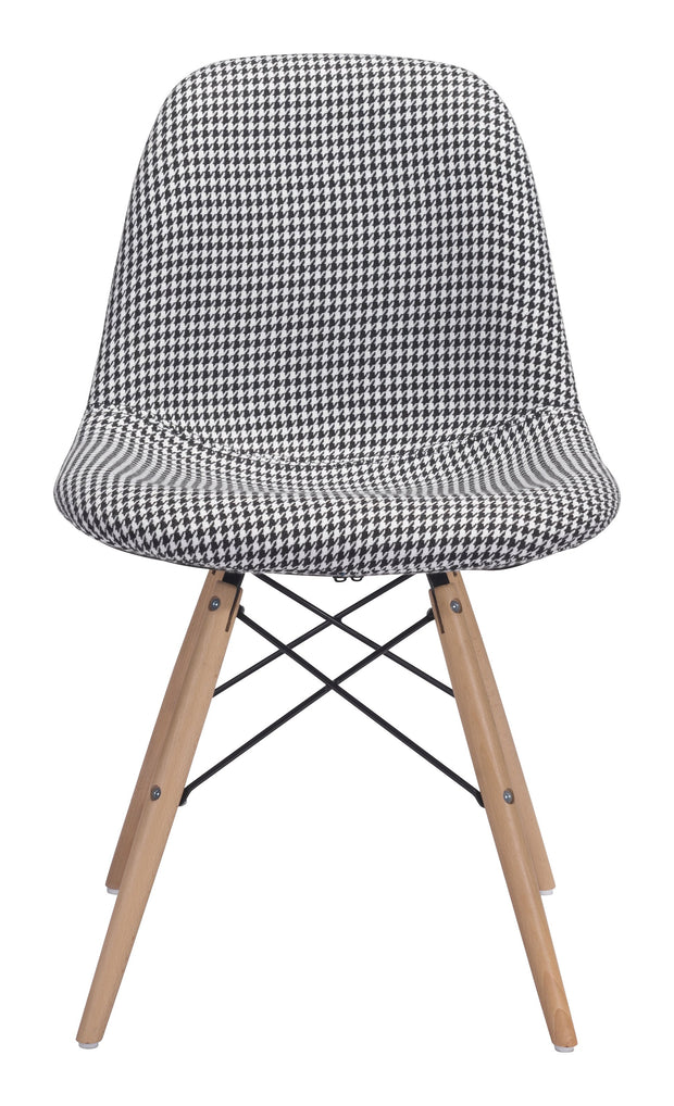 Sappy Dining Chair Houndstooth is From the Indoor Collection designed in Beech Wood, Metal and Polyester Linen. Sappy Collection part of the Chairs, Stools set.