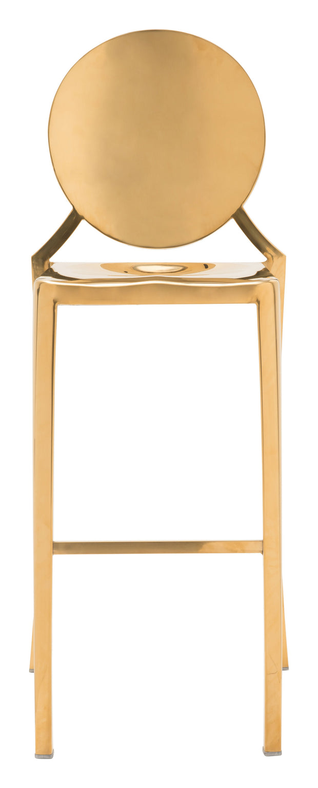 Eclipse Bar Chair Gold is From the Indoor Collection designed in Polished Stainless Steel . Eclispe Collection part of the Chairs, Stools set.