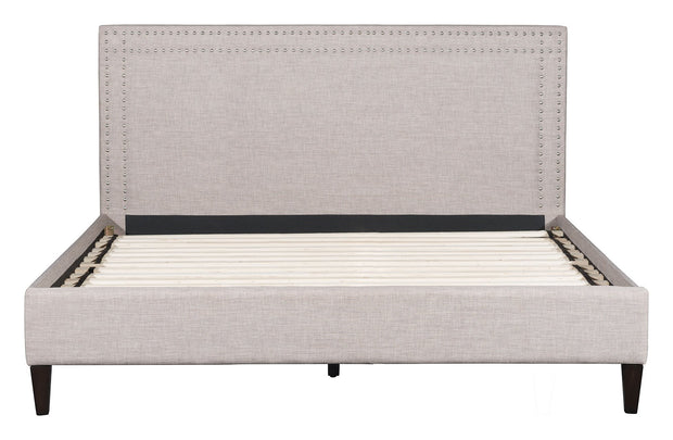 Renaissance King Bed Dove Gray is From the Indoor Collection designed in Rubber Wood and Polyester. Renaissance Collection part of the Beds set.