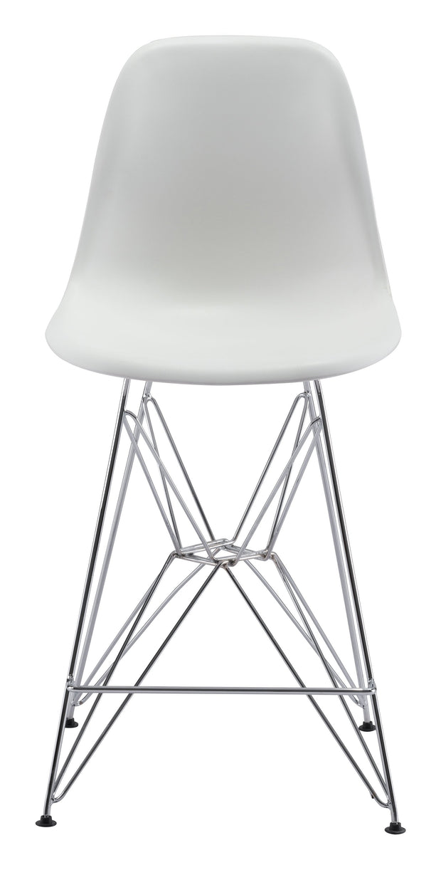 Zip Counter Chair White is From the Indoor Collection designed in Chromed Steel and Polypropylene. Zip Collection part of the Chairs, Stools set.