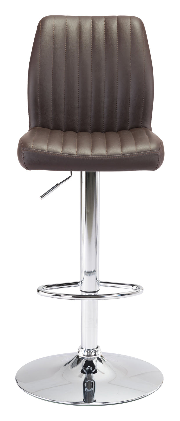 Willful Bar Chair Brown is From the Indoor Collection designed in Chromed Steel and Leatherette. Willful Collection part of the Chairs, Stools set.