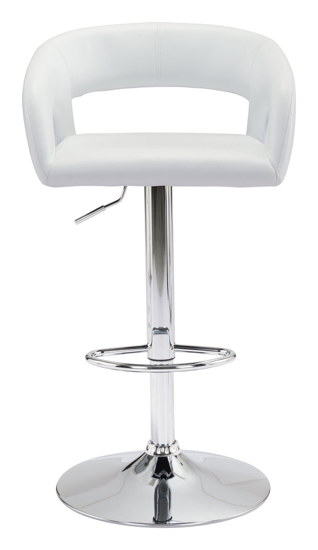 Hark Bar Chair White is From the Indoor Collection designed in Chromed Steel and Leatherette. Hark Collection part of the Chairs, Stools set.