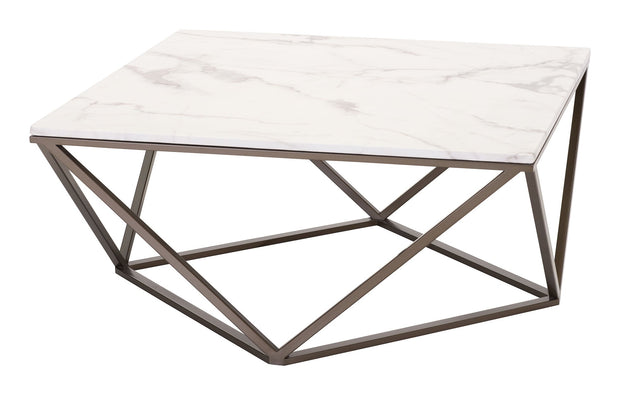 Tintern Coffee Table Stone & A. Brass is From the Indoor Collection designed in Painted Metal and Faux Marble. Tintern Collection part of the Coffee, Side, Consoles set.