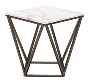 Tintern End Table Stone & A. Brass is From the Indoor Collection designed in Painted Metal and Faux Marble. Tintern Collection part of the Coffee, Side, Consoles set.