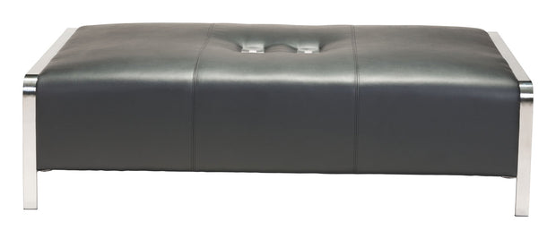 Thor Ottoman Black is From the Indoor Collection designed in Stainless Steel and Leatherette. Thor Collection part of the Chairs set.