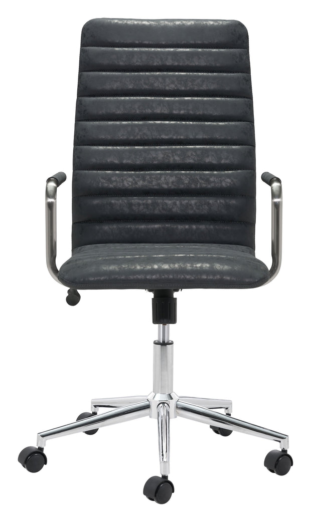 Pivot Office Chair Vintage Black From the Indoor Collection designed in Chromed Steel and Leatherette. Pivot Collection part of the Chairs set.