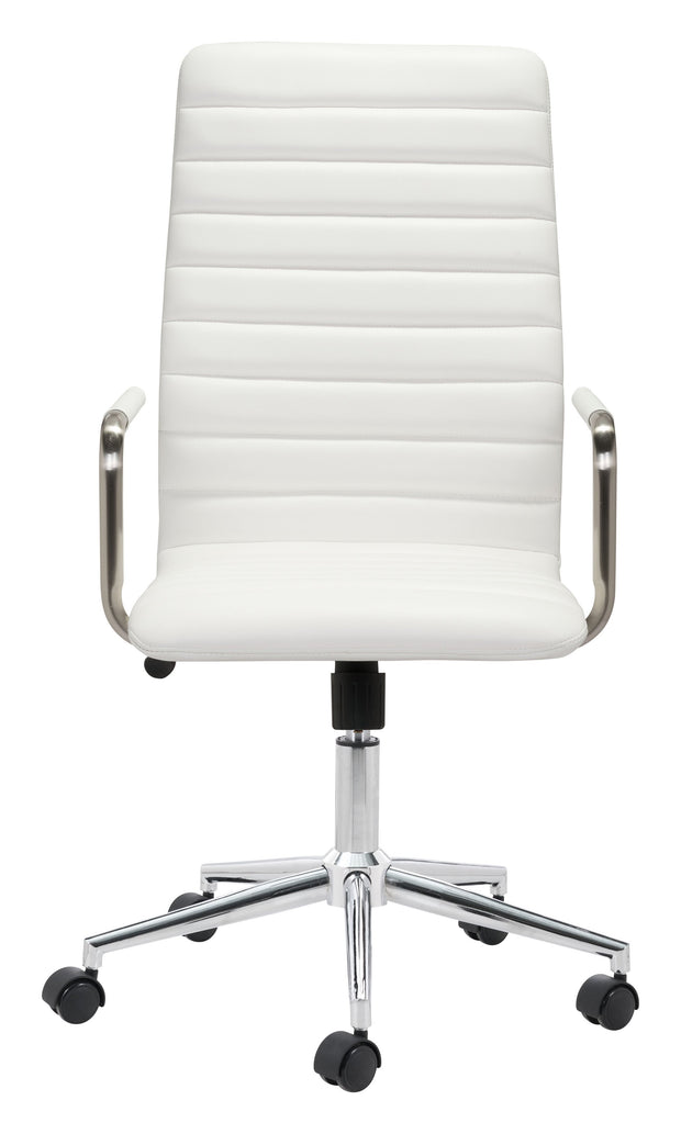 Pivot Office Chair White From the Indoor Collection designed in Chromed Steel and Leatherette. Pivot Collection part of the Chairs set.