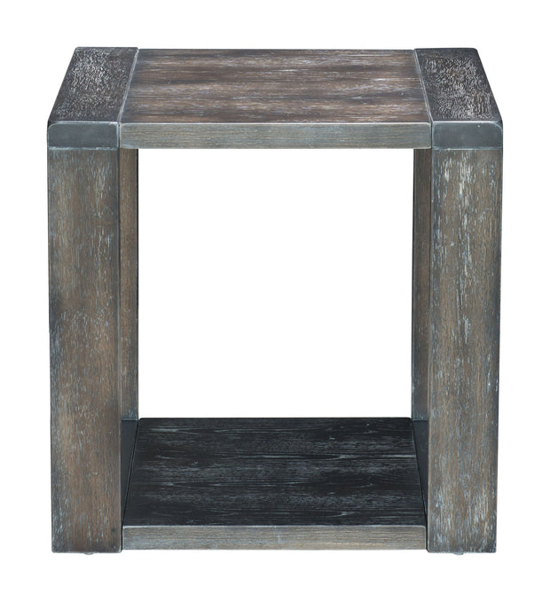 Skyline End Table Gray is From the Indoor Collection designed in Rubber Wood and Knotty Oak Veneer. Skyline Collection part of the Coffee, Side, Consoles set.
